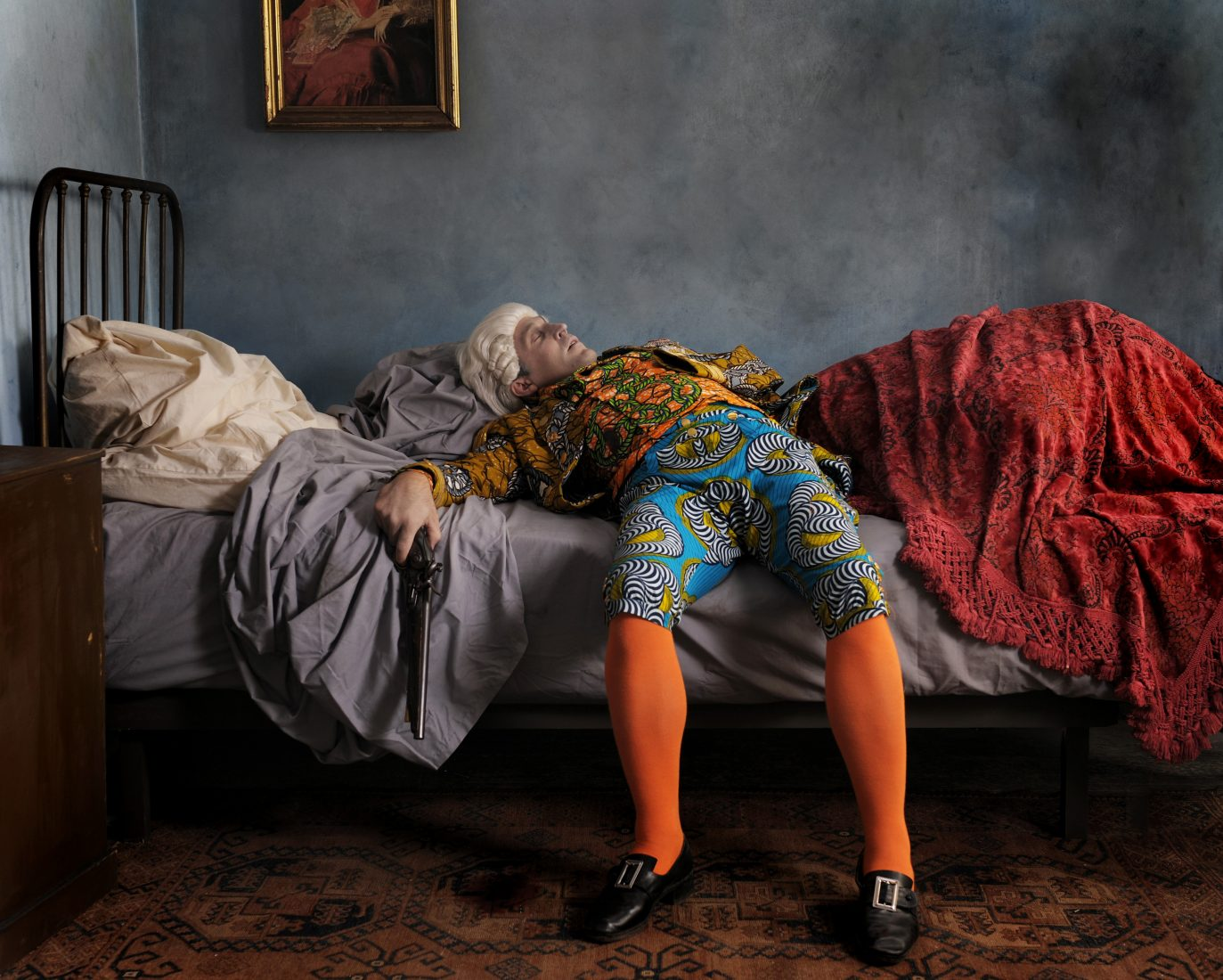 Fake Death Picture (The Suicide - Manet), 2011, digital chromogenic print.
