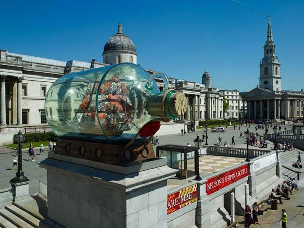 Nelson's Ship in a Bottle, 2010, Trafalgar Square, Londen.