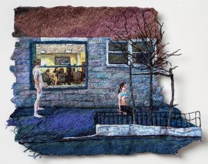 Sophia Narrett, Mean, 2016, handborduurwerk, 33 x 34 cm - foto Stan Narten.