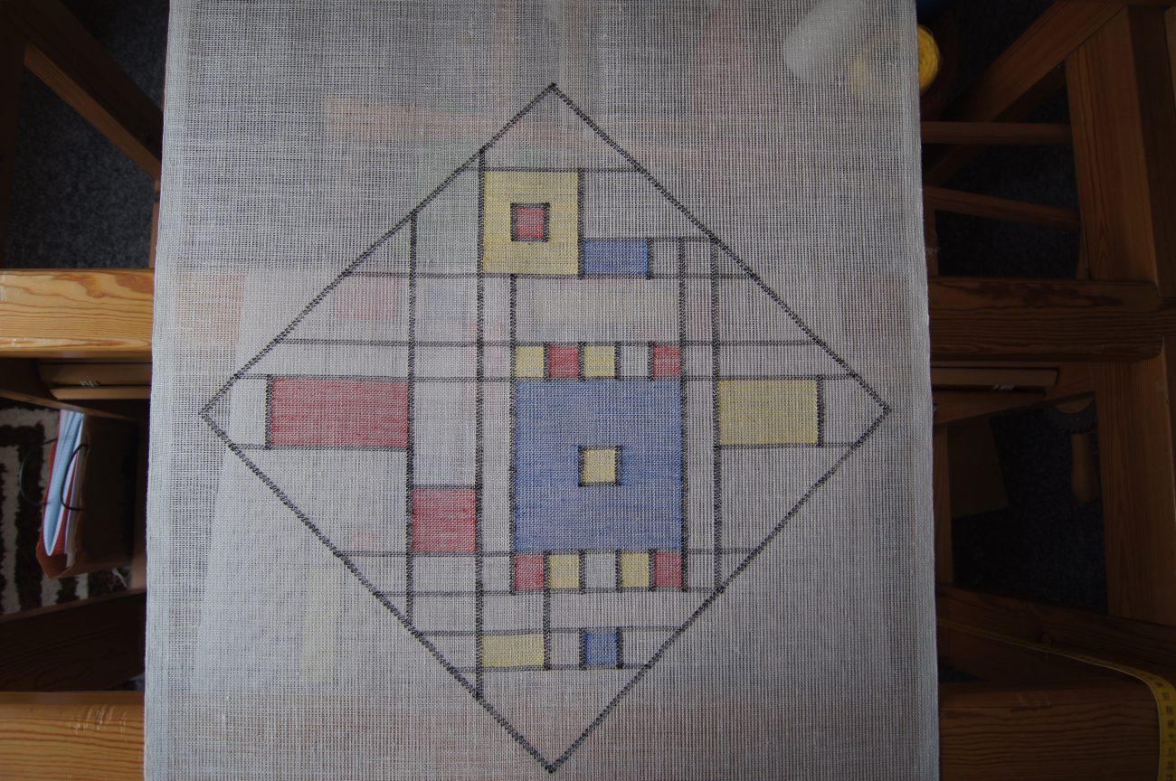Margreet Manhoudt - Lijnen vlakken kleuren naar Mondriaan.