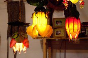 Textiele lampen.