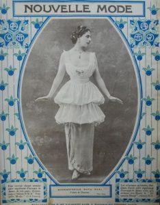 Mata Hari als covermodel van het tijdschrift Nouvelle Mode.