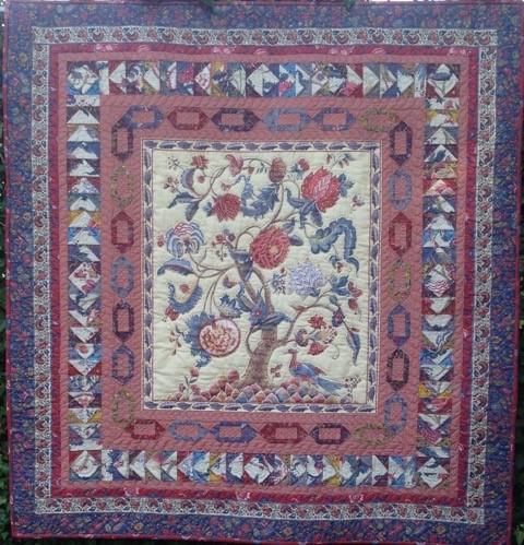 Een mooie quilt gemaakt met stoffen van Den Haan & Wagemakers door Maud von Bergh-Arnoldus.