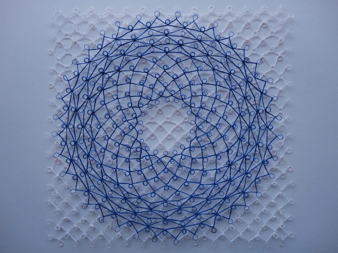 Mariet Visser, 'Tee-Circles', kantwerk, 28 x 28 x 1 cm.