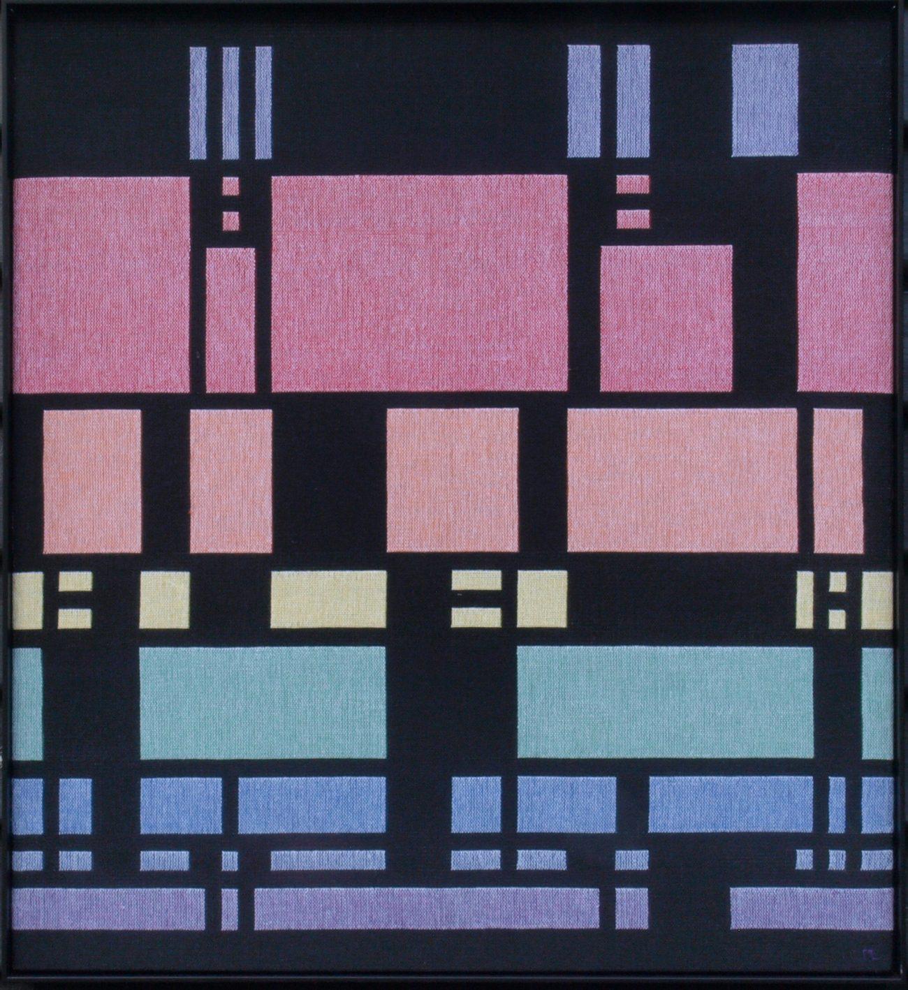 Marina L. van Dobben de Bruyn, 'Glas in lood', dubbelweefsel.