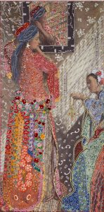 Barbara Broekman - On Victorian and Oriental Women nr. 6, 262 x 130 cm.