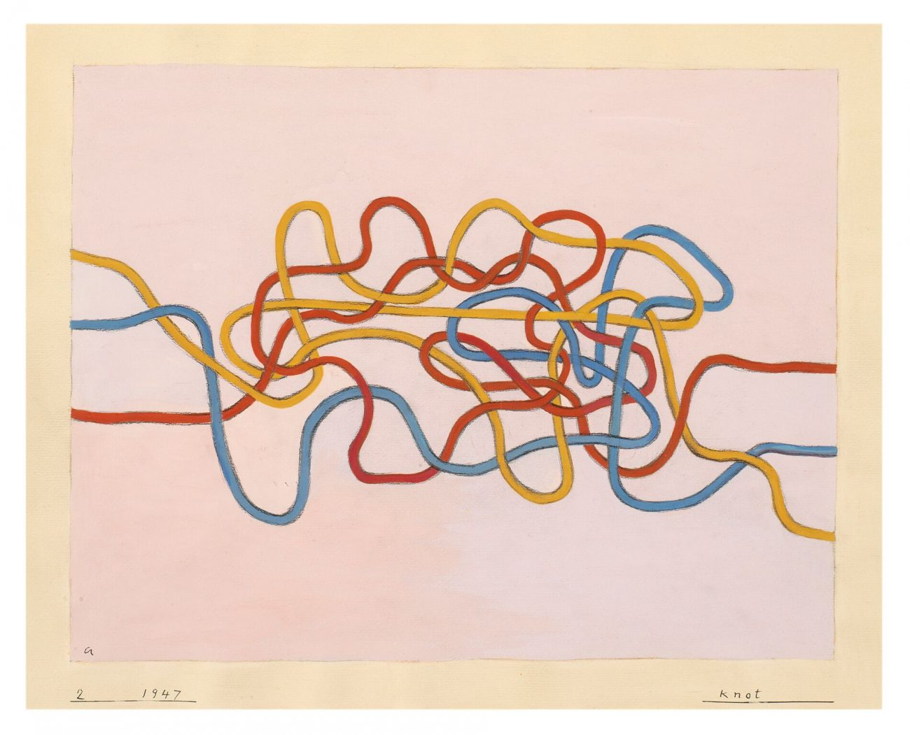 Knot, 1947, gouache op papier, 43,2 x 51 cm - foto The Josef and Anni Albers Foundation.