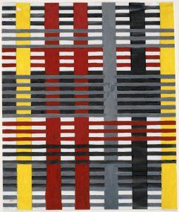 Studie voor een niet-uitgevoerd wandtapijt, 1926, gouache, 38,1 x 24,8 cm - foto The Josef and Anni Albers Foundation.