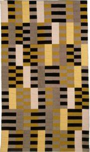 Wandkleed, ontworpen in 1926 in de Bauhaus-periode van Anni Albers, 203 x 119 cm (Bauhaus-Archiv Berlin).