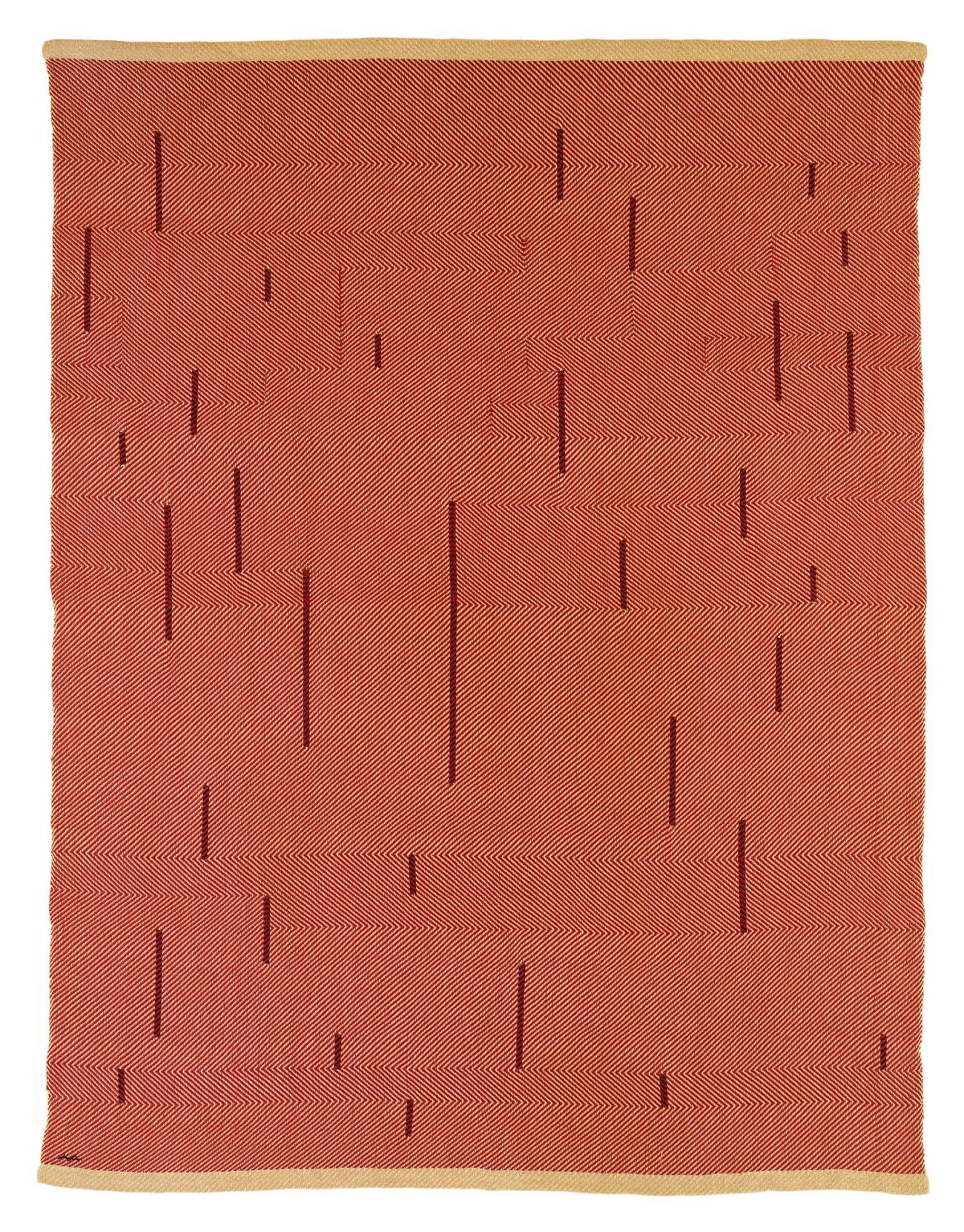 With Verticals,1946, katoen en linnen, 154,9 x 118,1 cm - foto The Josef and Anni Albers Foundation.