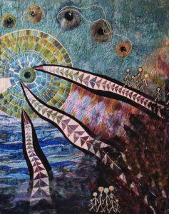 Art quilt van Eke Krug.