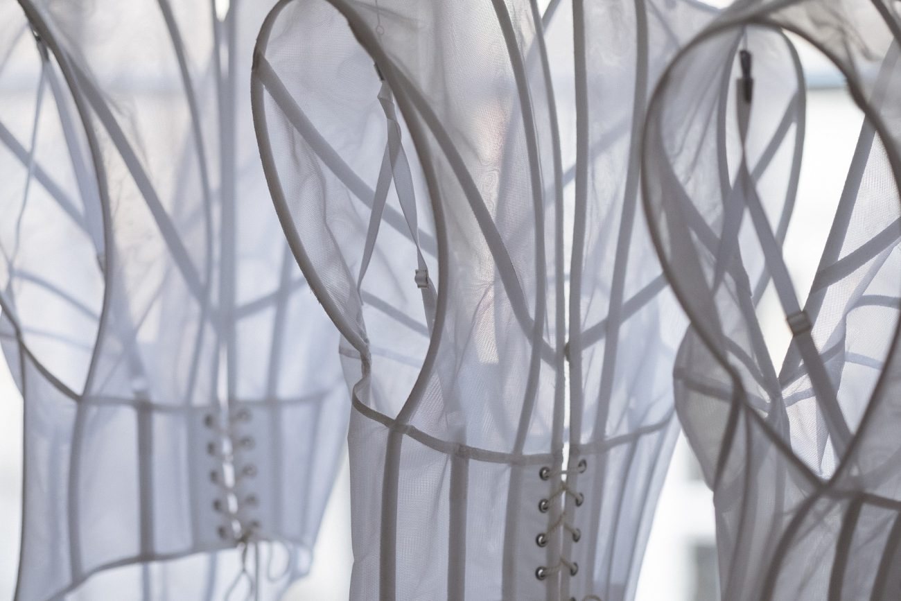 Drie ontwerpen van Tess van Zalinge - foto Marieke Bosma.
