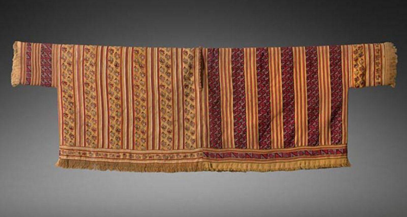 Unku, lamawol en katoen, Chancay of Chimu, periode 1100 - 1450 CE, 142 x 46 cm.