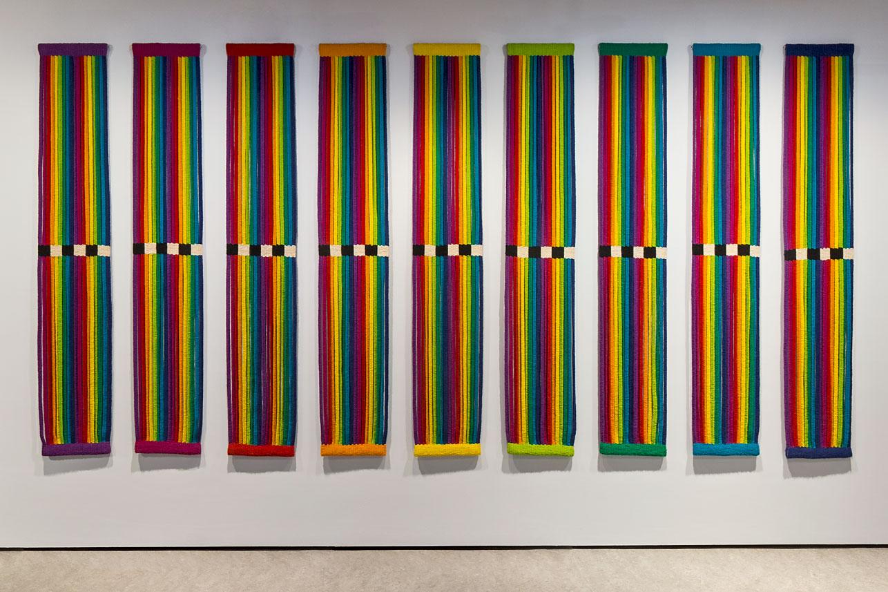 'Zonder titel' door Ria van Eyk, 1977-1978, 212 x 35 cm - foto Josefina Eikenaar.