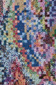 Boulez-22 -30 mei 04 -06 maart 05 -03.bmp van Peter Struycken, 2004-2005, 272 x 160 cm - foto Joep Vogels.