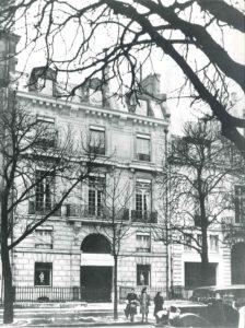 Vestiging van Christian Dior, Avenue Montaigne 30, Parijs, circa 1947.