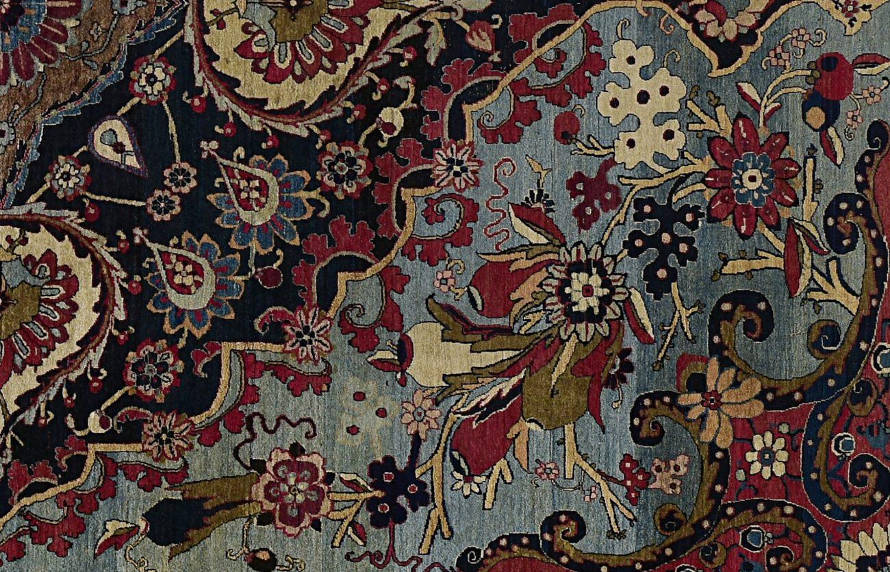 Medaillonkleed (detail), Iran, Teheran, 1896, wol en katoen.