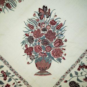 Detail van een palempore van chintz uit circa 1700-1725 - Chintz Cotton in Blooms - Handwerkwereld