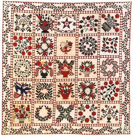 Baltimore Album Quilt uit 1848 - Handwerkwereld