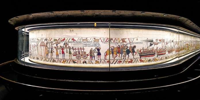 De huidige opstelling van het wandkleed in het Museum van Bayeux - Handwerkwereld