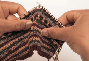 Fair Isle sokken stap 4 - Handwerkwereld