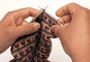 Fair Isle sokken stap 6 - Handwerkwereld