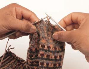 Fair Isle sokken stap 7 - Handwerkwereld