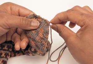Fair Isle sokken stap 8 - Handwerkwereld