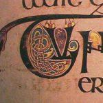 Boek van Kells, gedecoreerde initiaal - Handwerkwereld