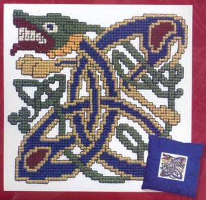 Keltische hond in kruissteek (Textile Heritage) - Handwerkwereld