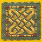 Keltische knoop in kruissteek - motieven - Handwerkwereld