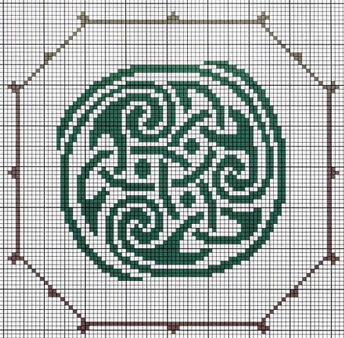 Teltekening van een Keltisch motief - Handwerkwereld