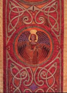 Detail van een Keltisch liturgisch kleed - Handwerkwereld