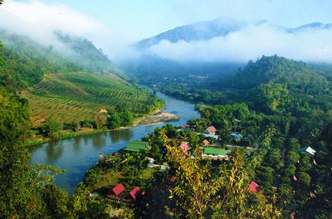 Landschap in Noord-Thailand - Handwerkwereld