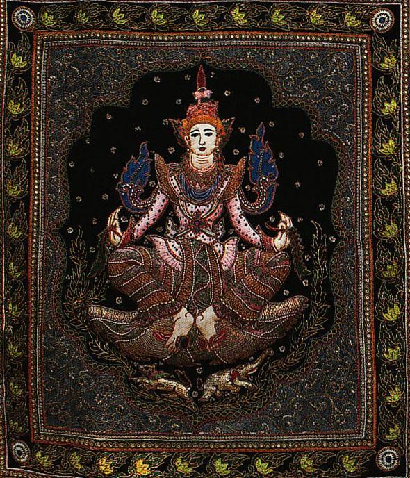 Kalaga met een afbeelding van de Lawkanat - Handwerkwereld