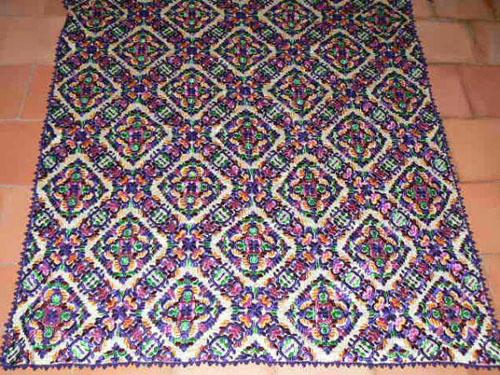 Groot borduurwerk uit Rabat - Marokkaans borduren - Handwerkwereld