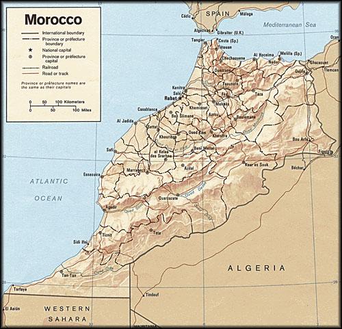 Ligging van de steden in Marokko - Handwerkwereld