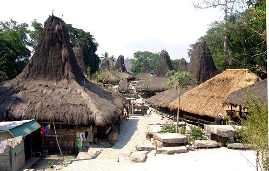 Traditioneel dorp op Sumba - Handwerkwereld