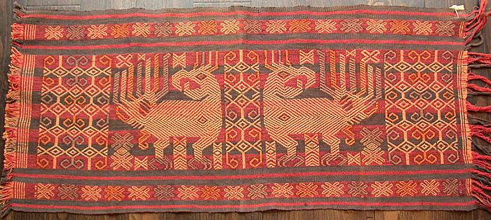 Op Sumba geweven ikat - Handwerkwereld