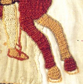 Detail met vlakvulling met de bayeuxsteek - Handwerkwereld