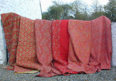 Welsh quilt in red paisley - Handwerkwereld