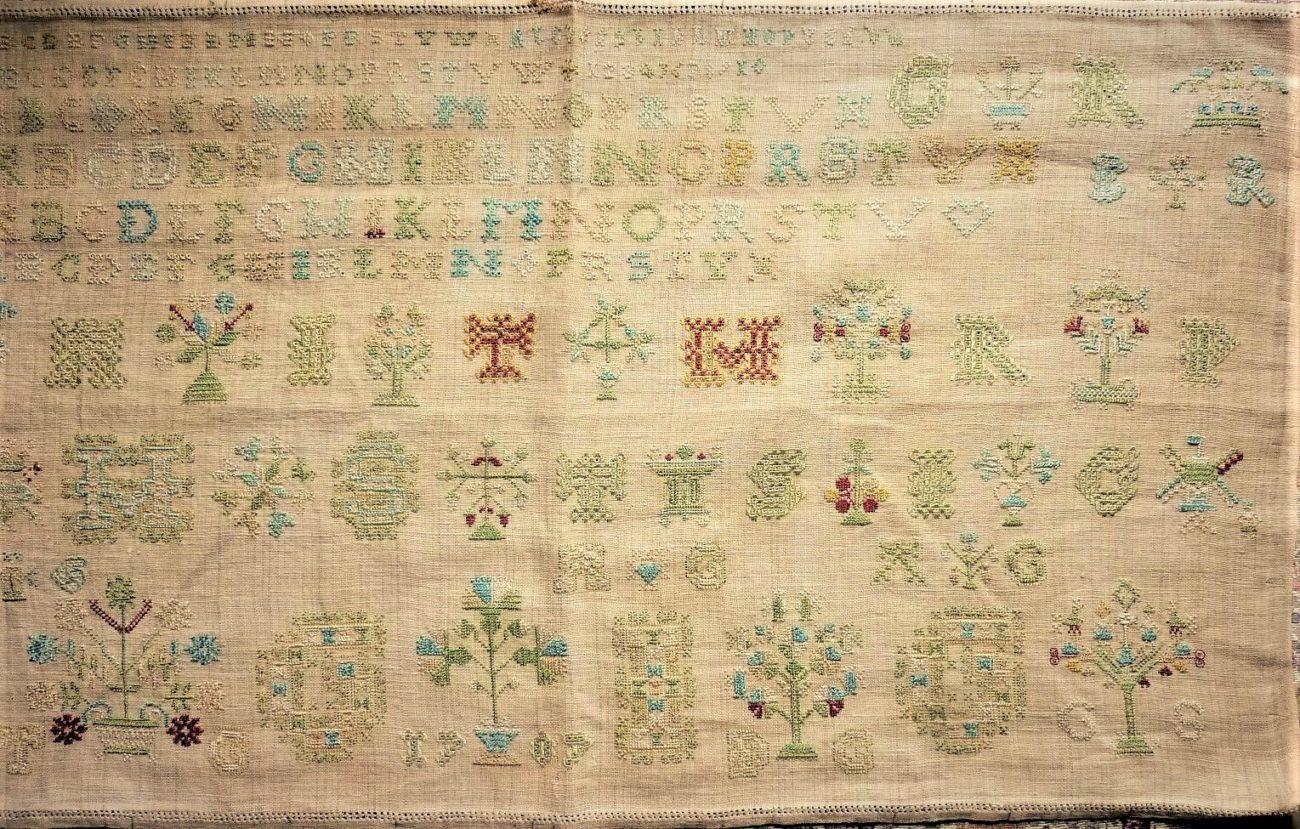 Friese merklap uit 1707 - oudste merklappen Bevelanden - Handwerkwereld