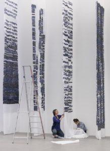 Jongeriuslab tijdens de installatie van Upside Down - Reading the Archive (2017) - Handwerkwereld
