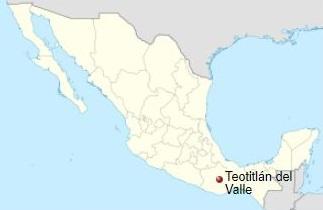 Ligging van Teotitlán del Valle in Mexico - natuurlijke kleurstoffen wol - Handwerkwereld