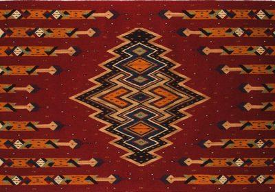 Sarape, wol gekleurd met marush, mos, pericón, indigo en cochenille - Porfirio Gutiérrez - Handwerkwereld
