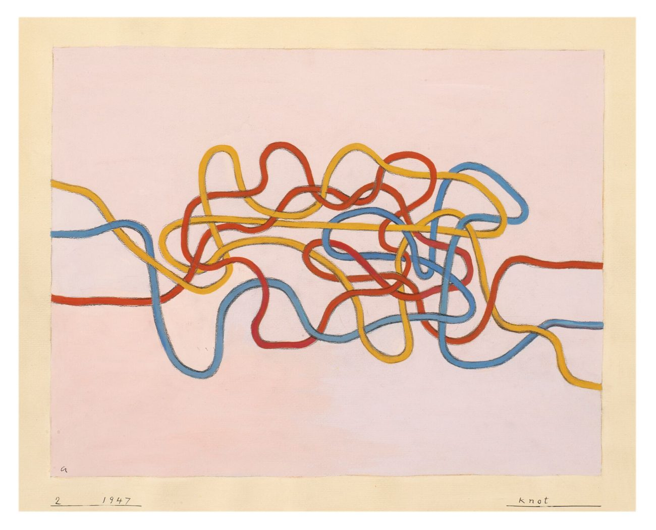 Anni Albers - Knot, 1947, gouache op papier, 43,2 x 51 cm - foto The Josef and Anni Albers Foundation