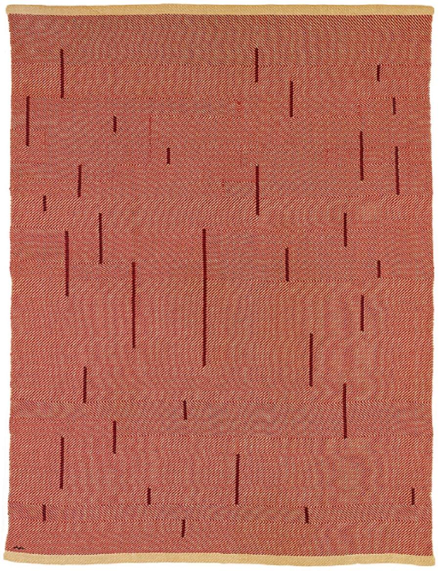 Anni Albers - With Verticals, 1946, katoen en linnen, 154,9 x 118,1 cm, foto The Josef and Anni Albers Foundation - Handwerkwereld