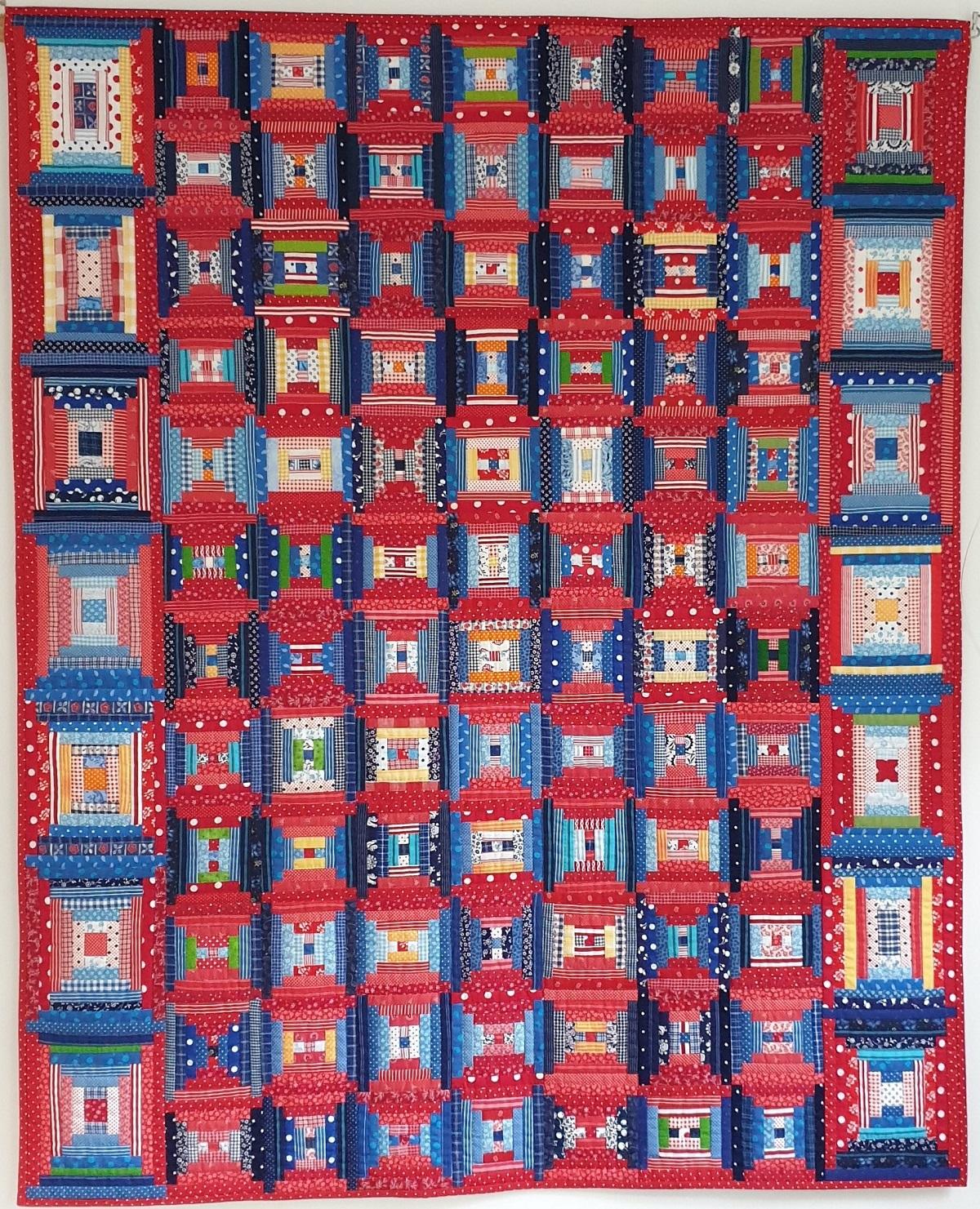 Quilt 'Hollands Glorie' door Sophia van Tongeren - Leids Wevershuis Rondom het Textielfestival - Handwerkwereld