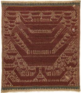 Scheepsdoek tampan darat, Komering, Lampung, Zuid-Sumatra - scheepsmotieven weefsels - Handwerkwereld