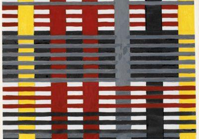 Studie voor een niet-uitgevoerd wandtapijt, 1926, gouache, 38,1 x 24,8 cm - foto The Josef and Anni Albers Foundation - weven - Handwerkwereld